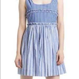 ROMEO & JULIET COUTURE Stripe Shoulder-Tie Dress